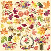 """Лист с картинками для вырезания. Набор """"Botany autumn"""". 02035-1"""
