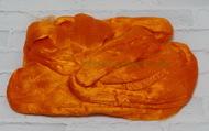 Шерсть для валяния вискоза 100%, 50 гр. (0490 яр.оранжевый)
