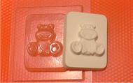 Пластиковая форма для мыла 057 - Бегемотик