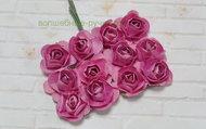 Розы бумажные 15 мм 12 шт. пурпурный