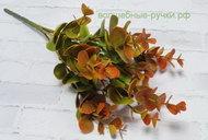 Ветка эвкалипта 263 зелено-оранжевый