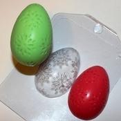 Пластиковая форма для мыла Яйцо/Цветочный орнамент