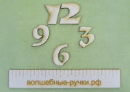 Набор цифр для часов 3см (4 цифры) D