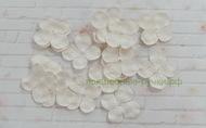 Цветы гортензии бумажные 3 см 20 шт. белый