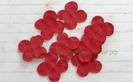 Цветы гортензии бумажные 3 см 20 шт. бордо