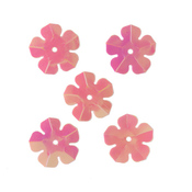 "Пайетки ""цветочки"" 16мм, ""Астра"" 10г (30 розовый голограмма)"