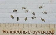 Концевики-зажимы для шнура 9х3.5х4мм, Бронза