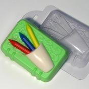 Пластиковая форма для мыла Блокнот с карандашами
