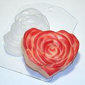 Пластиковая форма для мыла Сердце-роза