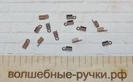 Концевики-зажимы для шнура 9х3.5х4мм, Медь