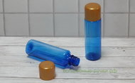 Флакон 50 мл синий декоративная крышка золото