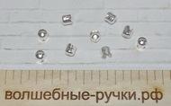 Конус Шапочки (IN-E015) 6.5х7мм, Серебро