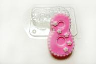 Пластиковая форма для мыла 8 марта праздничная