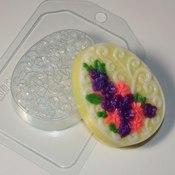 Пластиковая форма для мыла Яйцо плоское Орнамент и цветы