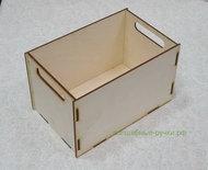 Ящик из фанеры с прорезанными ручками 250х158х150 мм