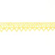 Кружево  CL-001, 8мм, х/б (JD010 св.желтый)