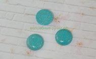 Кабошон Бирюза круглые зеленый 20 мм