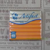 """123 Полимерная глина """"Артефакт"""" брус 56 гр. классический Апельсиновый"""