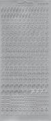 """Контурные наклейки """"Цифры от 0 до 9"""", лист 10x24,5 см, цвет серебро"""