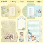 Лист двусторонней бумаги 20х20см Конверты Корица от Scrapmir SM0900020