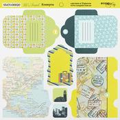 Лист двусторонней бумаги 20х20см Конверты Let's Travel от Scrapmir SM3100020