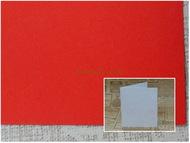 Заготовка для открытки 14х25 см 245г/м2 красный