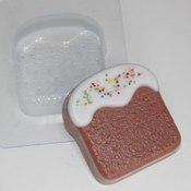 Пластиковая форма для мыла Кулич плоский