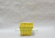 Корзина бамбук квадрат 14*14 см желтый