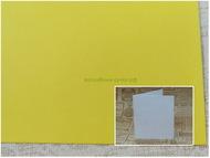 Заготовка для открытки 14х25 см 245г/м2 лимонный