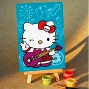 Набор для раскрашивания по номерам Kitty с гитарой 10х15см MA020