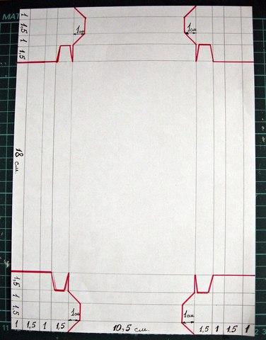 схема вырезания коробочки
