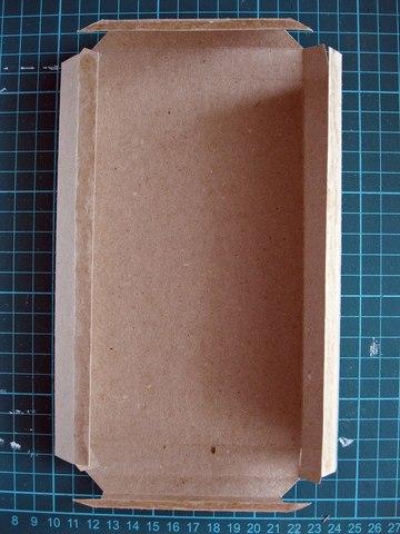 складываем коробочку для шоколадницы