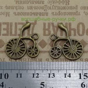 Кулон Велосипед, 26*23*3мм, бронза