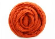 Шерсть для валяния мериносовая тонкая 100%, 100 гр. (0086 терракот)