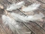 Декоративные перья, цвет белый, упаковка 30 шт, размер  пера 5-9 см