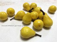 Искусственные фрукты - груши, цвет желтый, размер 2*2,5 см 5 шт