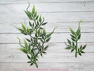 Зелень для декора( витая веточка), цвет зеленый, длина веточки 13 см, 5 шт
