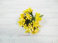 Сахарные тычинки, цвет желтый, пучок 12 веточек, диаметр веточки 2 см