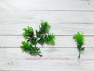 """Искусственная зелень, типа """"хмель"""", цвет зеленый, длина 6 см, 5 шт"""