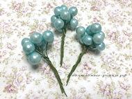 Шарики жемчужные голубой на пике, упаковка 10 шт, размер шарика 11 мм