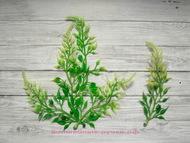 Зелень витая веточка, цвет светло-зеленый с белой верхушкой, длина 12 см, 5 шт