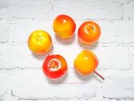 Искусственные фрукты,  яблочки, цвет желто красный, 5 шт