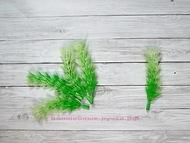 Искусственная зелень, цвет салатово-белый, длина веточки 9 см, ширина 2,5 см 5 шт