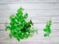 """Искусственная зелень для декора """"широкие листики"""", цвет салатовый, длина 8 см, 10 шт"""