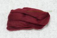 Лента для валяния бордо шерсть полутонкая 100% 50 гр 047