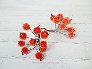 Ягодки в сахаре, цвет красно-оранжевый, диаметр ягодки 12 мм, пучок 20 ягодок