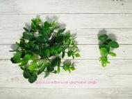 Искусственная зелень, мелкий эвкалипт, цвет зеленый, длина веточки 8 см, 10 шт