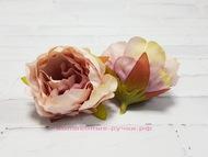 Мини- пион, цвет винтажно-розовый, диаметр 4 см