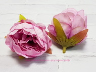 Мини пион, цвет розово-сиреневый, диаметр 4 см