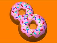Пластиковая форма для мыла 076 -  8 пончик